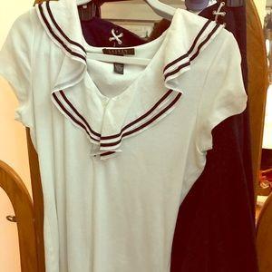 Lauren Ralph Lauren sailor blouse & skirt